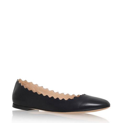 Scallop Edge Ballet Flats, ${color}