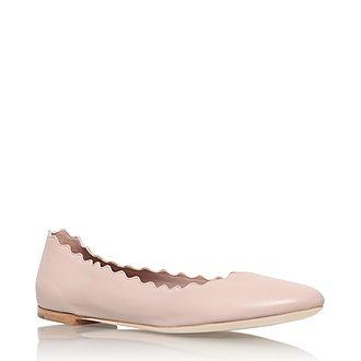 Scallop Edge Ballet Flats