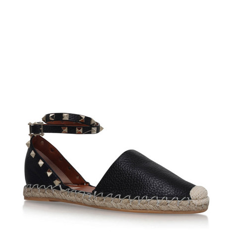 Rockstud Double Espadrilles, ${color}