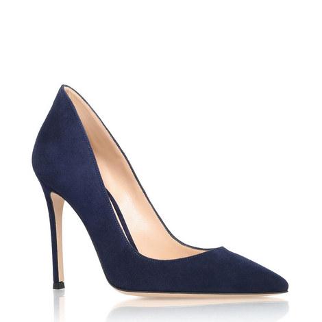 Suede Collar Heels, ${color}