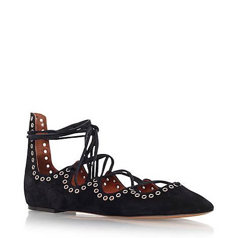 Leo Suede Ballerina Shoes, ${color}