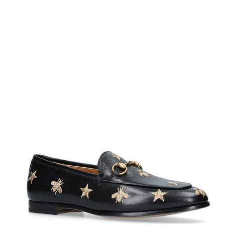 Jordaan Snaffle Embroidered Loafers, ${color}