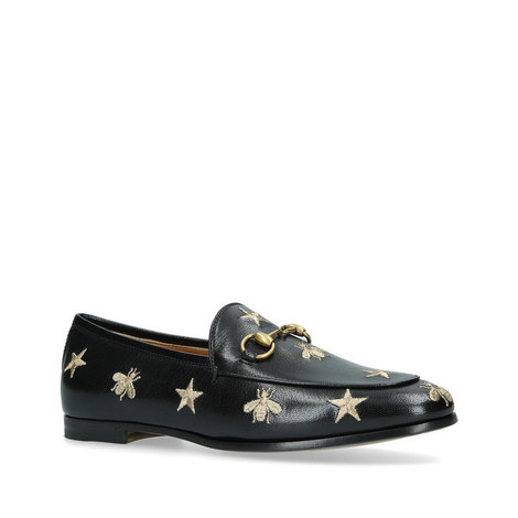 Jordaan Embroidered Snaffle Loafers, ${color}