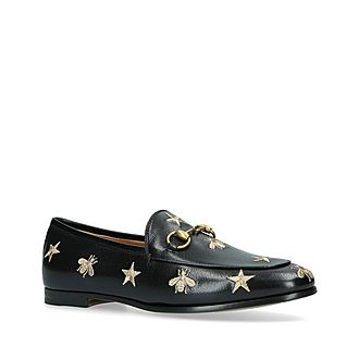 Jordaan Embroidered Snaffle Loafers