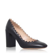 Scallop Edge Block Heels