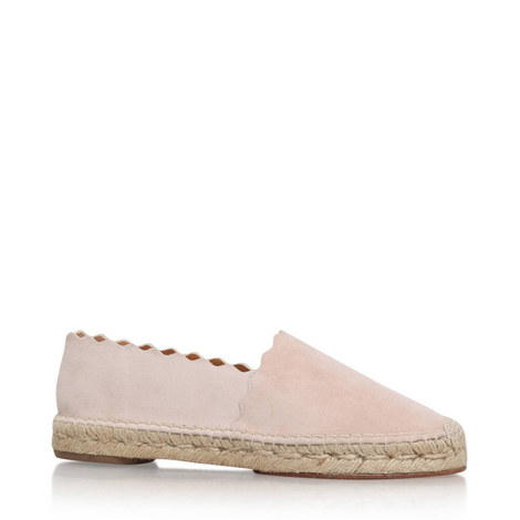 Scalloped Suede Espadrilles, ${color}