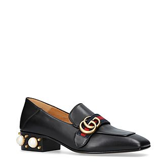 Pearl Heeled Loafers
