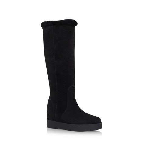 Falco Shearling Knee-High Boots, ${color}