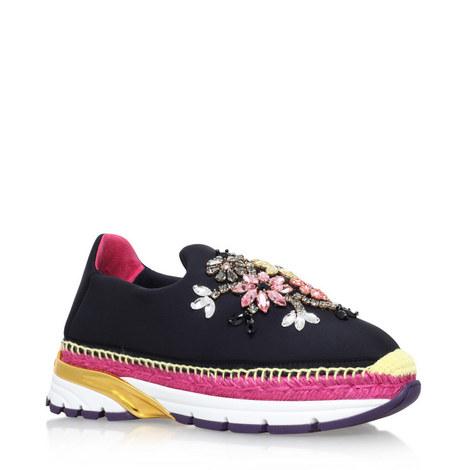 Rita Embellished Neoprene Sneakers, ${color}