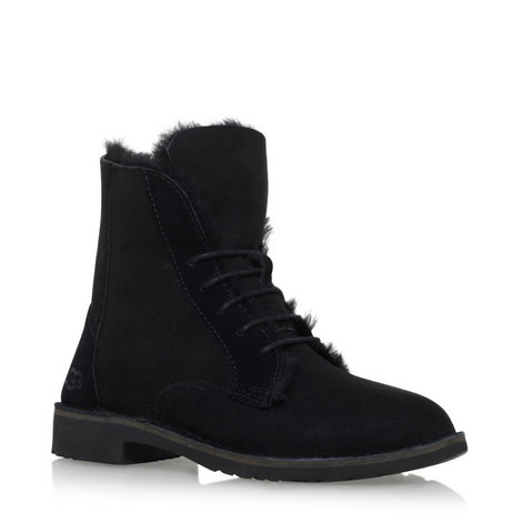 Quincy Suede Lace-Up Boots, ${color}