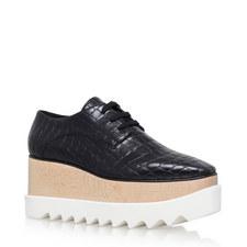 Elyse Crocodile Wedge Shoes