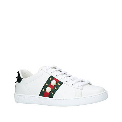 Ace Webbed Pearl Trainers, ${color}
