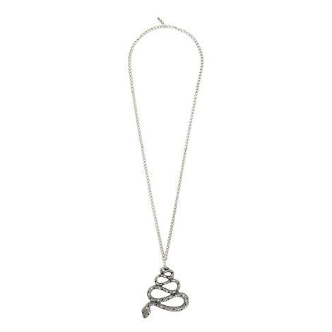 Snake Pendant Necklace, ${color}