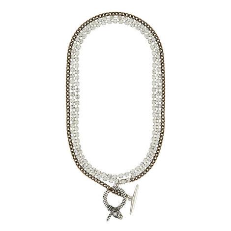 Double Chain Necklace, ${color}