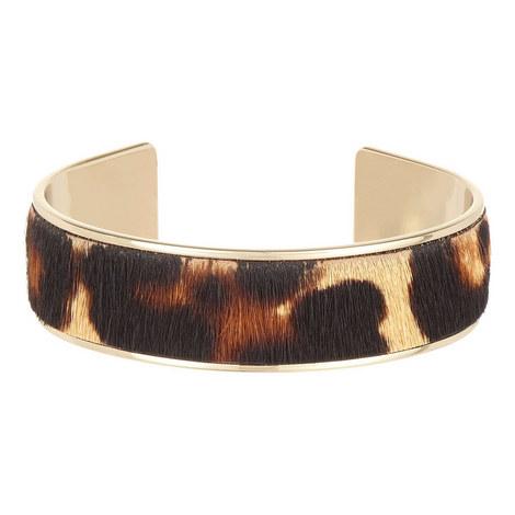 Pony Leopard Leather Bracelet, ${color}