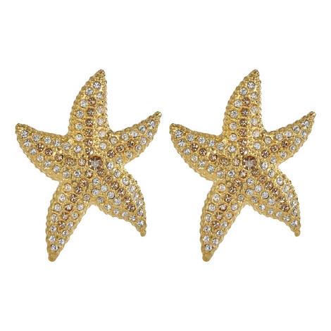 Starfish Rhinestone Earrings, ${color}