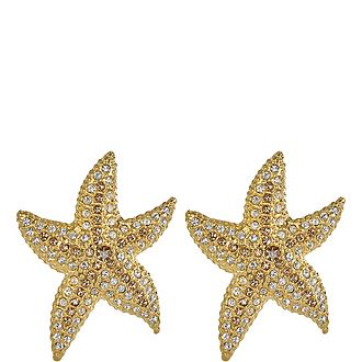 Starfish Rhinestone Earrings