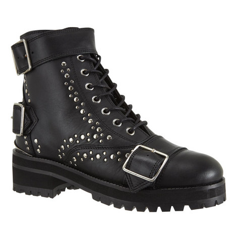 Studded Leather Ankle Boots, ${color}