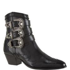 Stitch Detail Cowboy Boots