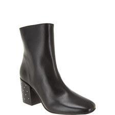 Stud Heel Ankle Boots