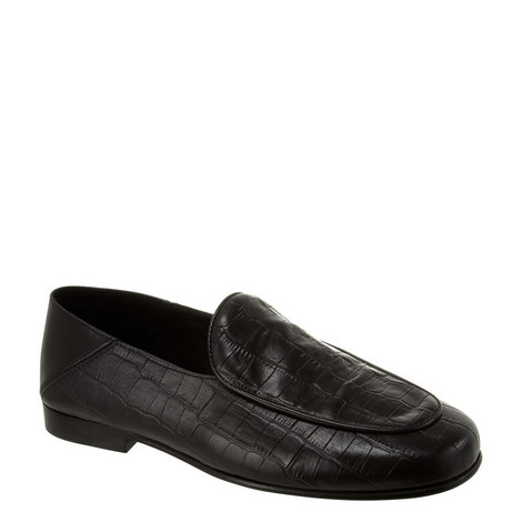 Crocodile Embossed Loafers, ${color}