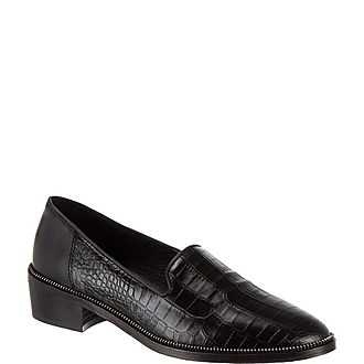 Croc Embossed Loafers