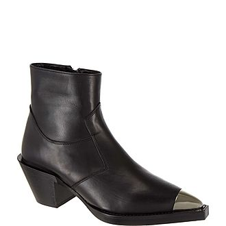 Silver-Tipped Ankle Boots