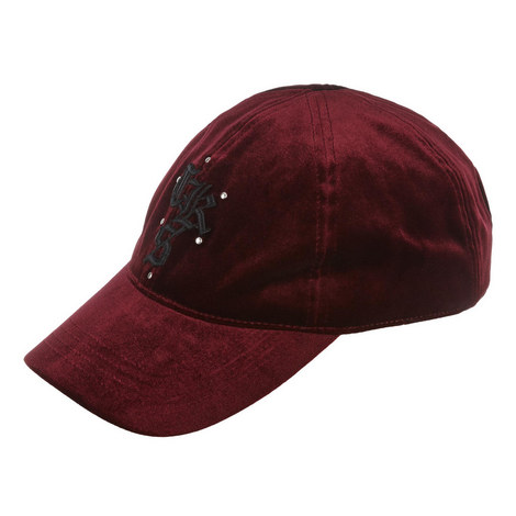Embroidered Velvet Cap, ${color}