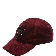 Embroidered Velvet Cap