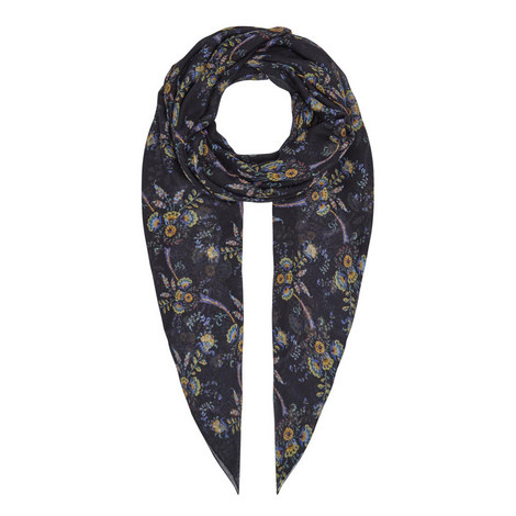 Floral Pattern Scarf, ${color}