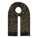 Leopard Wool Scarf, ${color}