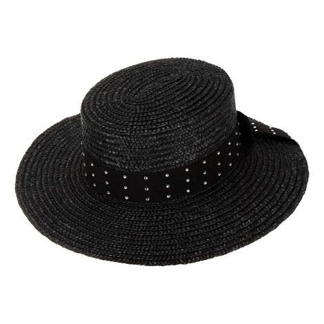 Rhinestone Studded Straw Hat, ${color}