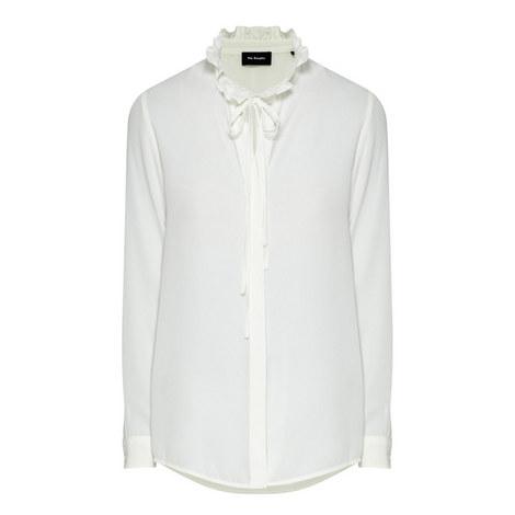 Ruffled Collar Shirt, ${color}