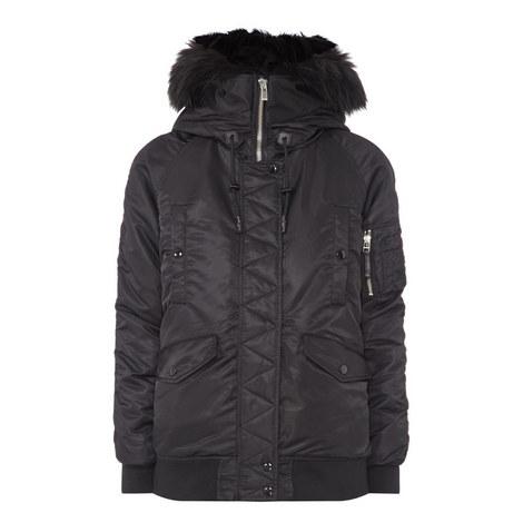 Faux Fur Bomber Jacket, ${color}