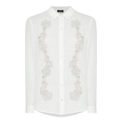 Floral Embroidered Shirt, ${color}