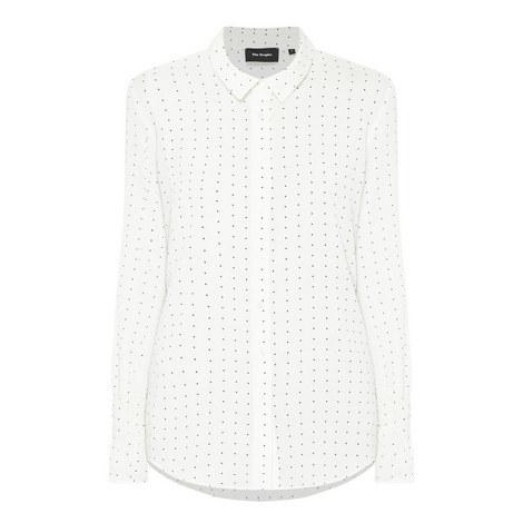 Polka Dot Print Shirt, ${color}