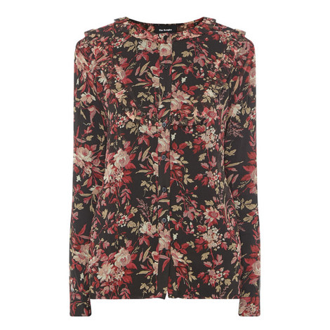 Floral Ruffle Shirt, ${color}