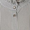 Striped Ruffle Shirt, ${color}