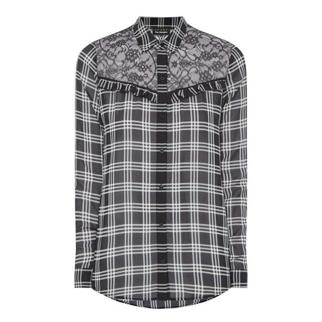 Damier Lace Check Shirt, ${color}