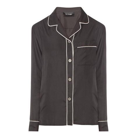 Silk Pyjama-Style Shirt, ${color}