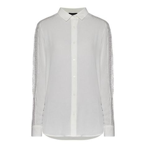 Lace Crêpe Shirt, ${color}