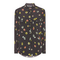 Silk Camellia Pin Spot Shirt , ${color}