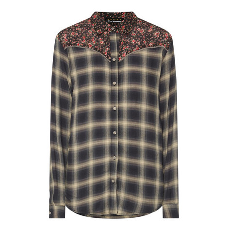 Floral Check Shirt, ${color}
