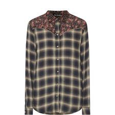 Floral Check Shirt