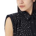 Rhinestone Sleeveless Shirt, ${color}