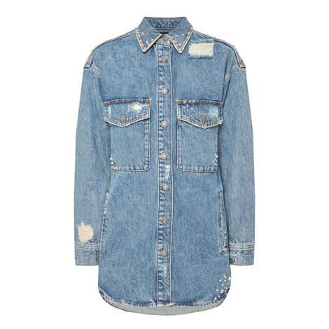 Studded Denim Jacket, ${color}