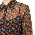 Cropped Floral Silk Blouse, ${color}