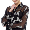 Panther Georgette Shirt, ${color}