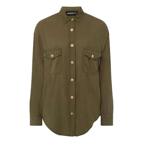 Relaxed Khaki-Denim Shirt, ${color}