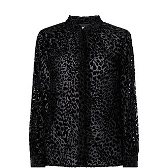 Semi Sheer Leopard Shirt